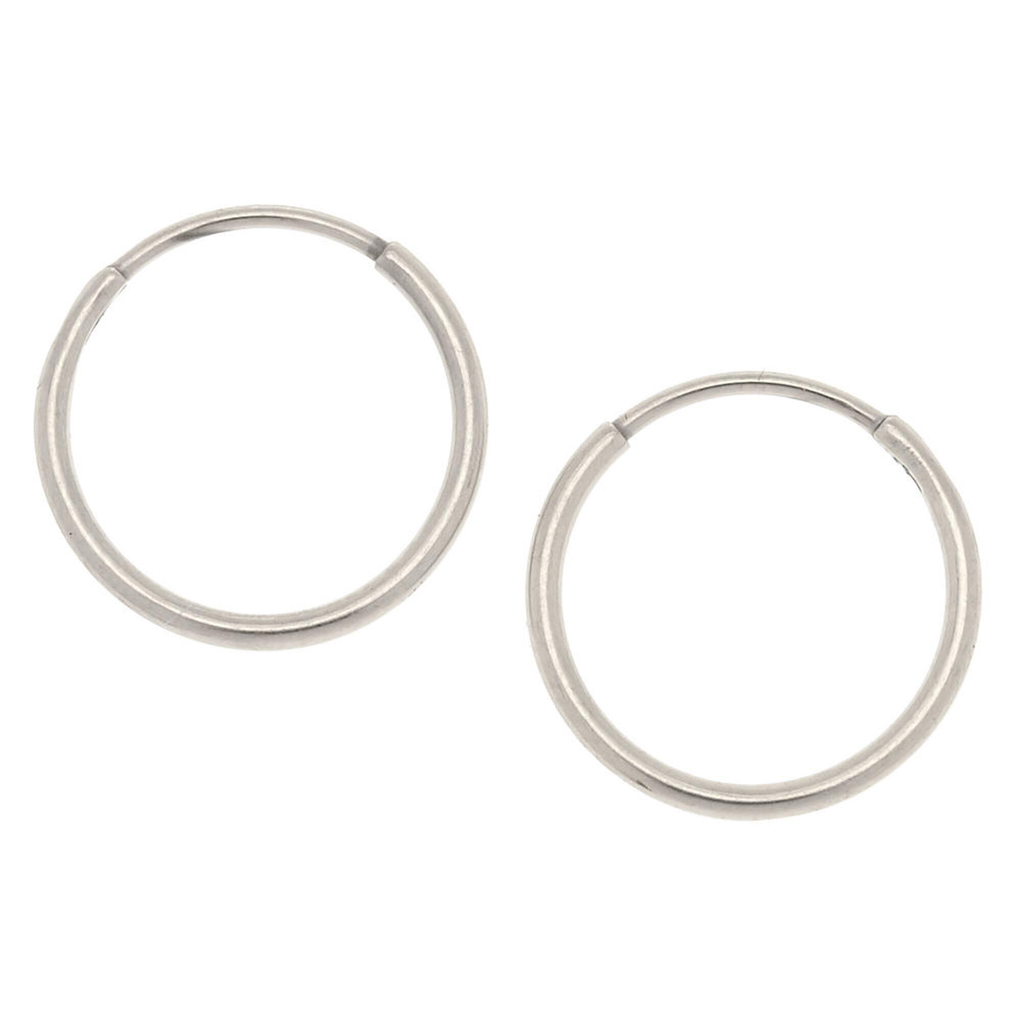 Silver Anium 10mm Sleek Hoop