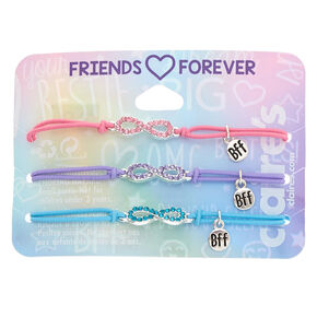 Embellished Infinity Stretch Friendship Bracelets - 3 Pack,