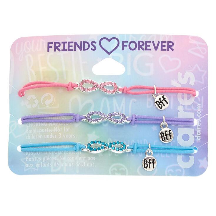 Embellished Infinity Stretch Friendship Bracelets - 3 Pack,
