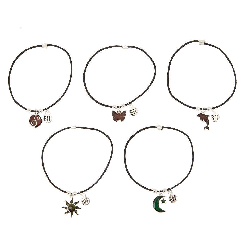 Claire's Girl's 5 Pack BFF Stretch String Friendship Bracelets LzeJc9
