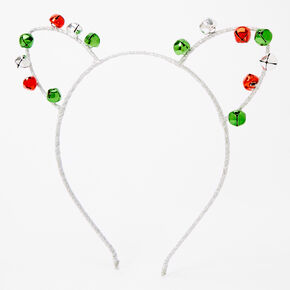 Jingle Bell Cat Ears Headband,