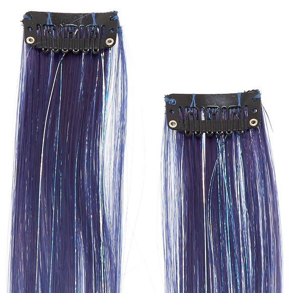 Claire's - glitter lurex faux ombre hair extensions - 2