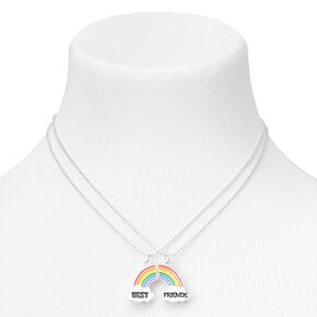 Best Friends Broken Rainbow Pendant Necklaces - 2 Pack,
