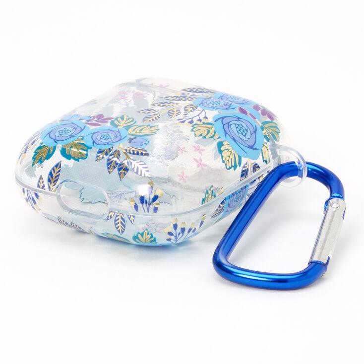 Étui pour écouteurs floral bleu marine - Compatible avec les AirPods® de Apple,