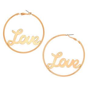 Créoles Love couleur dorées 60mm,