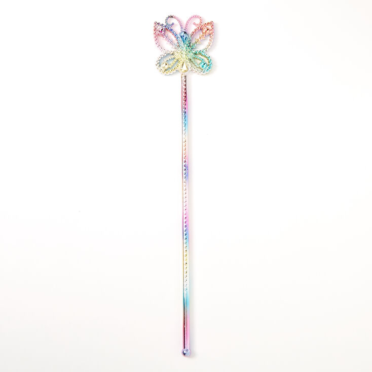 Claire's Club Rainbow Butterfly Wand,