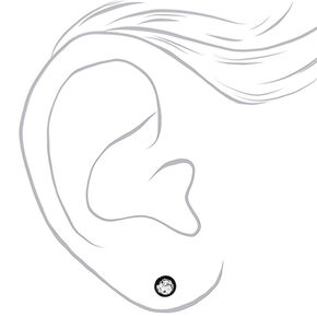 Silver 16G Mermaid Glitter Faux Ear Plugs - Black,