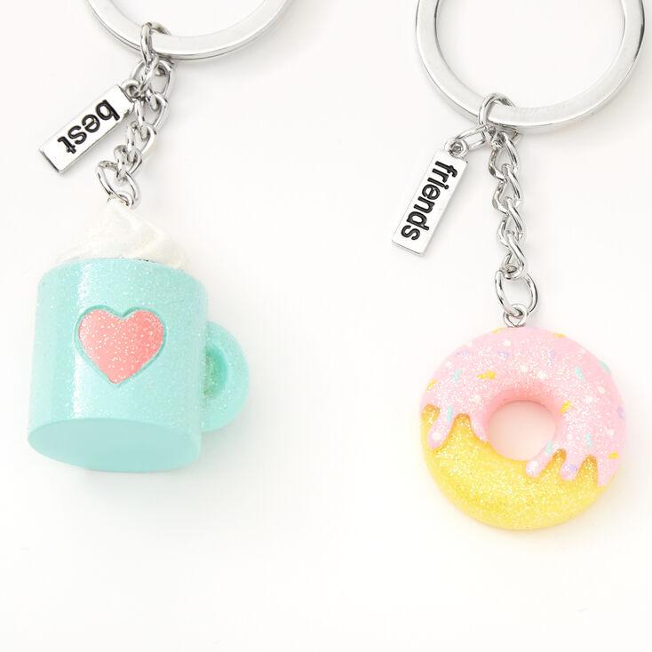 Donut Coffee Best Friends Keychain - 2 Pack,