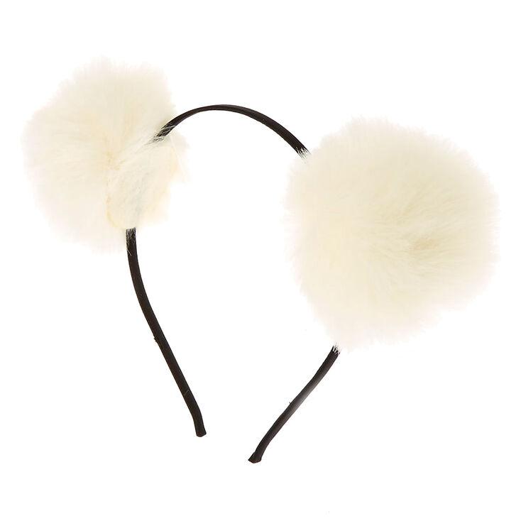 Pom Pom Ears Headband - Ivory,