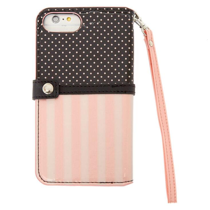 Polka Dot Folio Phone Case - Fits iPhone 6/7/8 Plus,