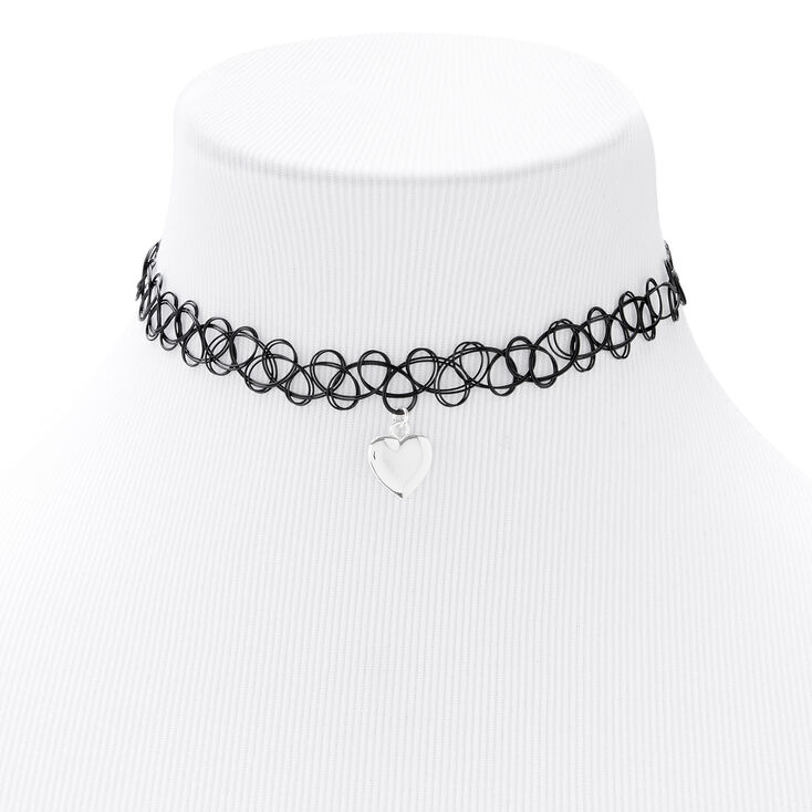 Silver Puffy Heart Jewelry Set - 2 Pack,