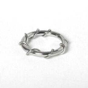Anneau pour piercing de cartilage vigne torsadé 1,2cm couleur argentée,