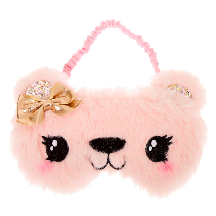 Claire's Club Bear Sleeping Mask - Pink,