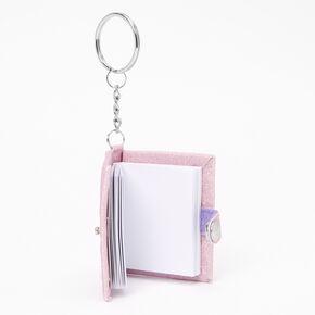 Initial Mini Journal Keychain - X,