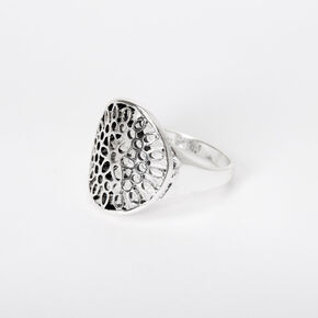 Silver Filigree Statement Ring,