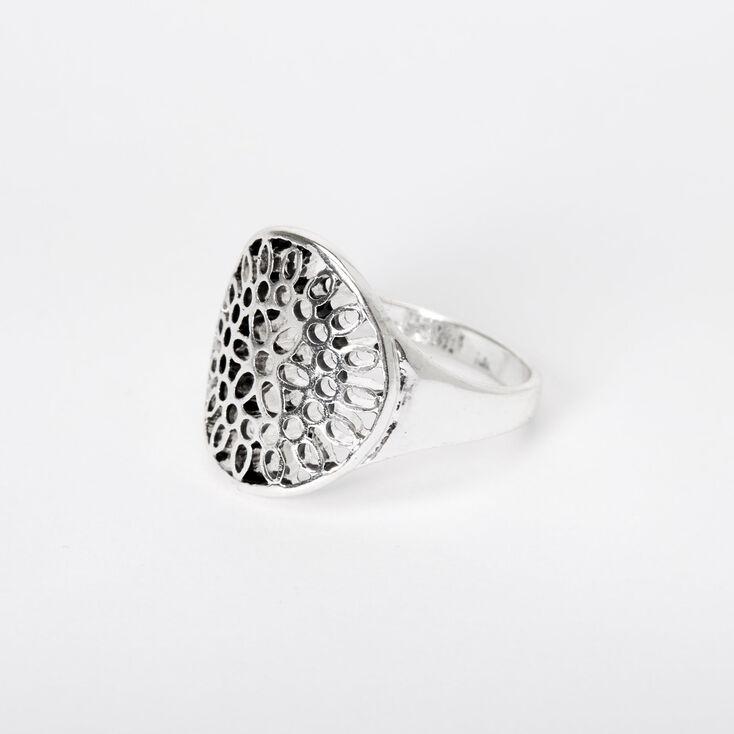 Silver Filigree Statement Ring,