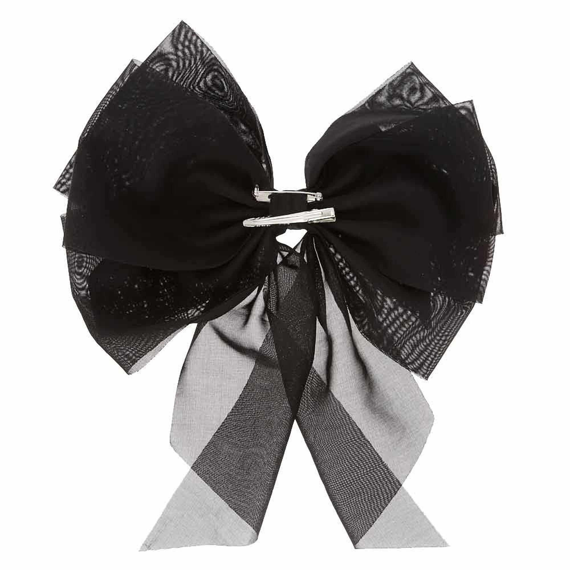 gros n ud cheveux style mousseline noire claire 39 s fr. Black Bedroom Furniture Sets. Home Design Ideas