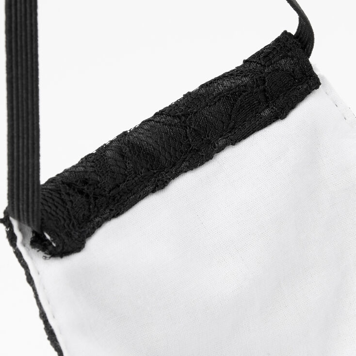 Black Lace Cloth Face Mask - Adult,