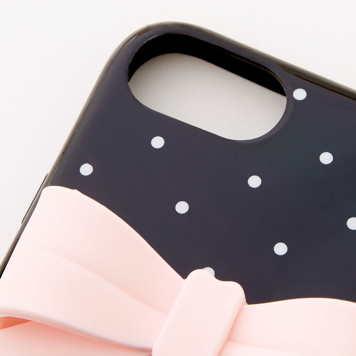 Polka Dot Protective Phone Case with Pearl Lanyard - Fits iPhone® 6/7/8/SE,