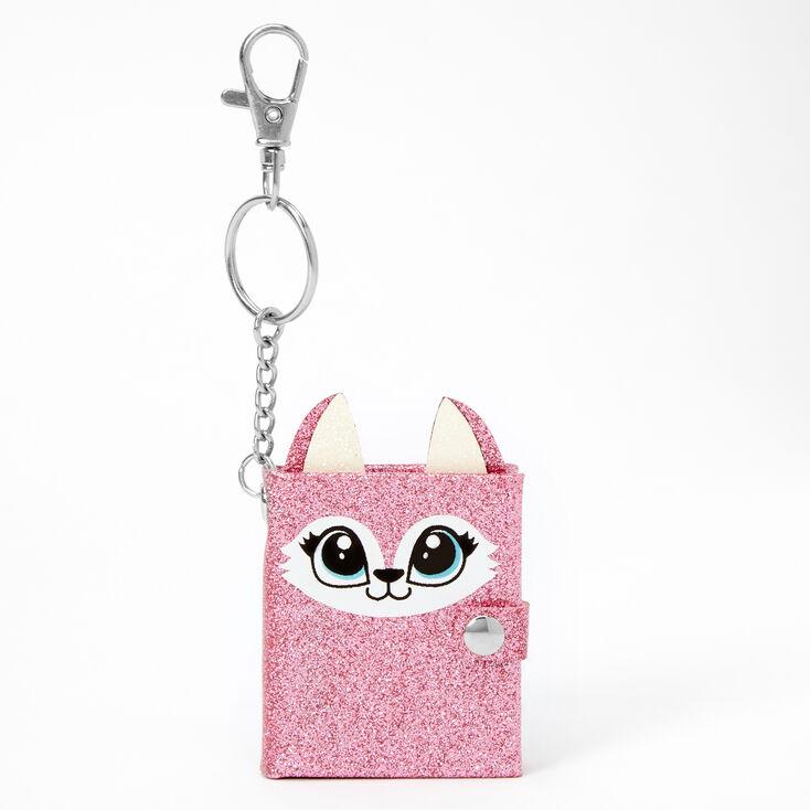 Pink Fox Mini Diary Keychain - Pink,