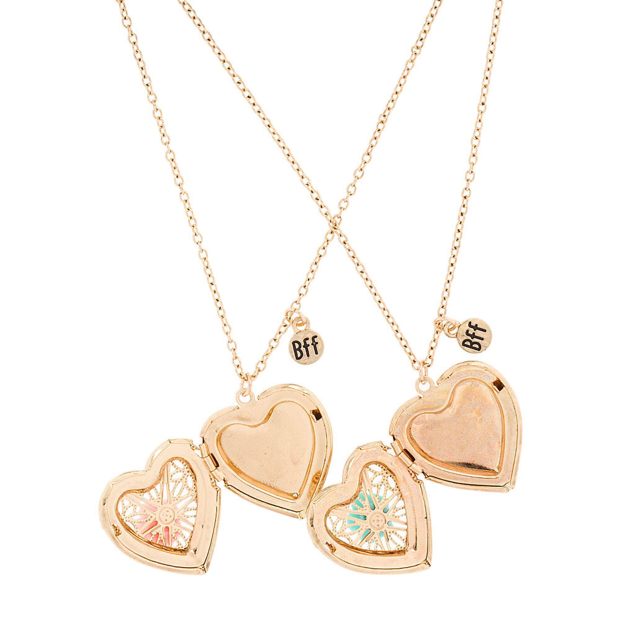 heart lockets set necklace bling best sterling jewelry forever pbx split friend az friends uec