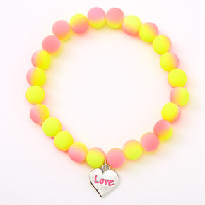 Ombre Matte Love Beaded Stretch Bracelet,