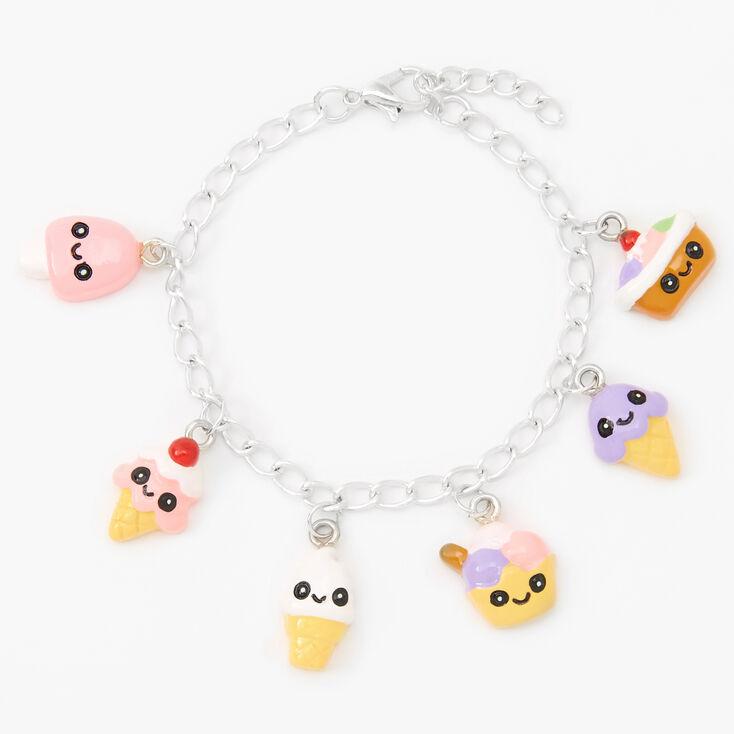 Silver Ice Cream Charm Bracelet,