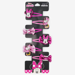Disney® Minnie Mouse Glitter Snap Hair Clips - 6 Pack,