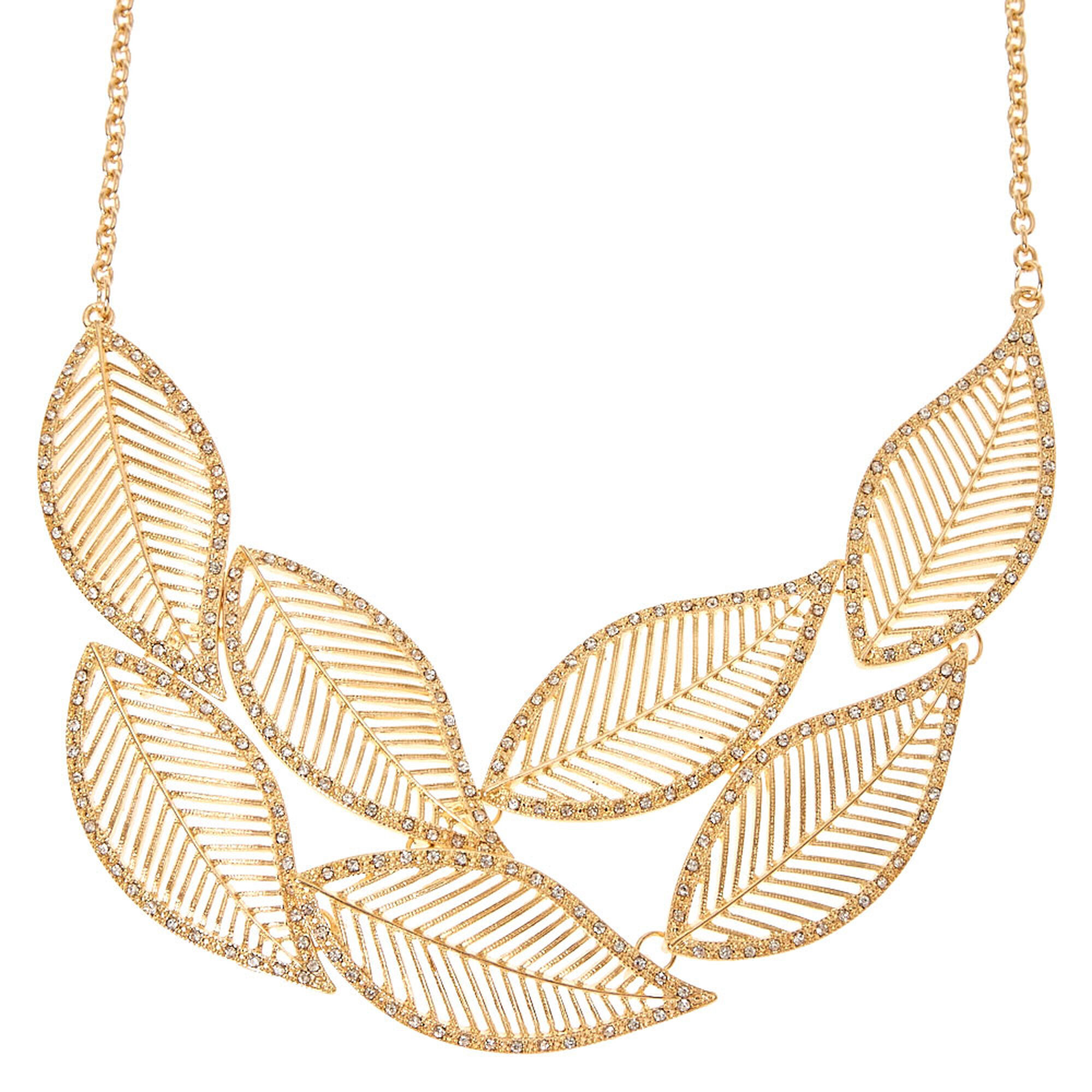 leaves necklace designs handcrafted modern jewelry silver product close