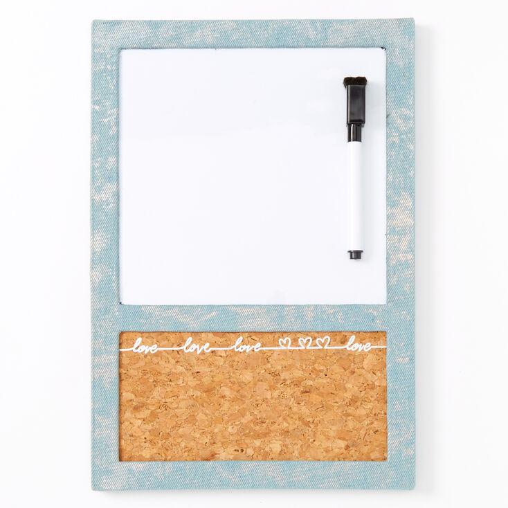 Love Script Denim Locker Dry Erase Board,