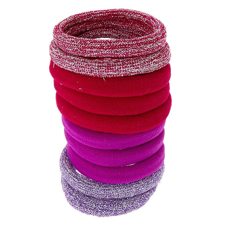 Berry Glitter Hair Ties - 10 Pack,