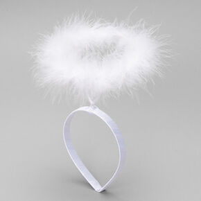 Feather Halo Headband - White,