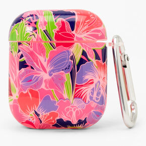 Neon Lily Earbud Case Cover - Compatible with Apple AirPods,