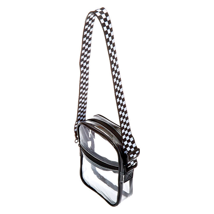 Black Trim Crossbody Bag - Clear,