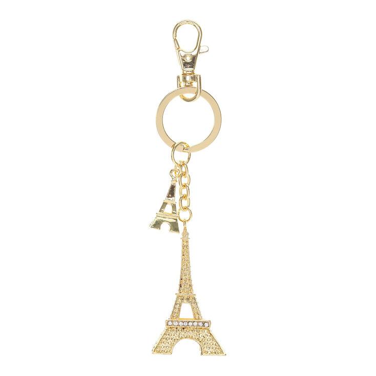 Gold Paris Eiffel Tower Keychain  6153d2fd73ae