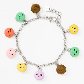 Silver Macaron Charm Bracelet,
