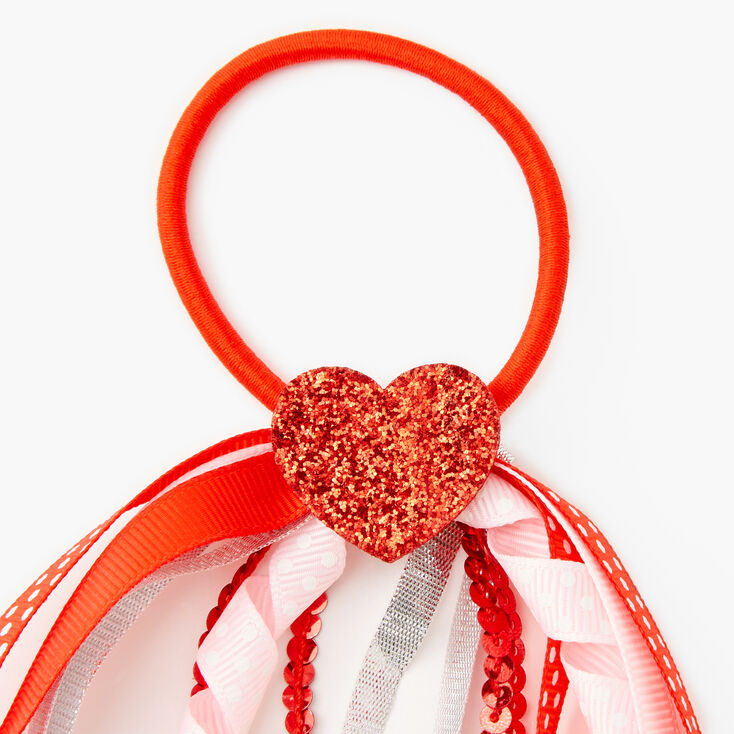 Valentine's Day Curly Ribbon Hair Tie,