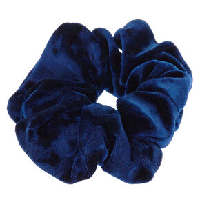 Medium Velvet Hair Scrunchie - Navy,