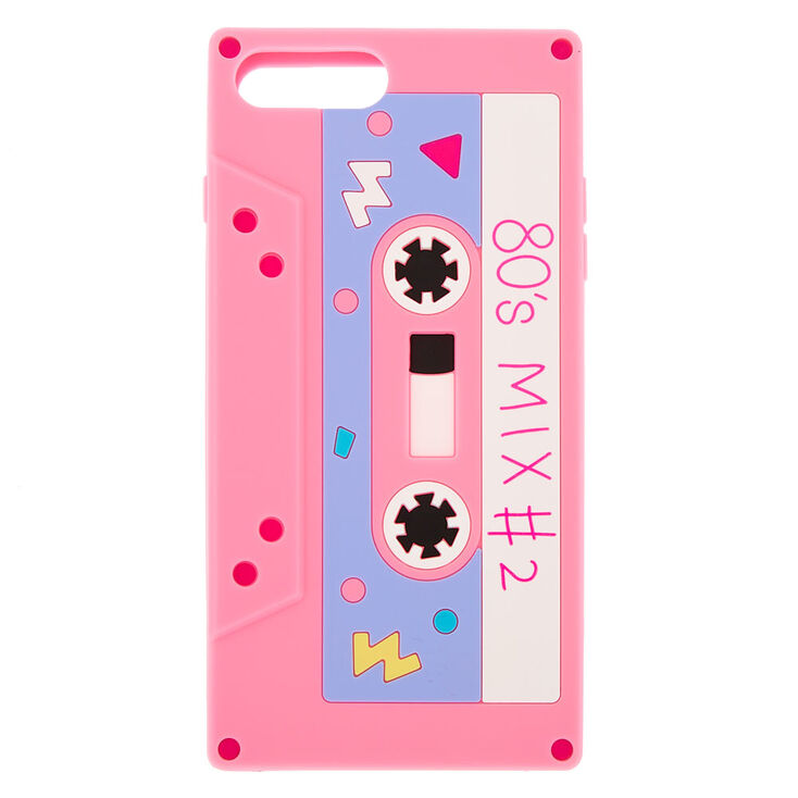 purchase cheap 5c48f 380f0 Pink Mixtape Silicone Phone Case - Fits iPhone 6/7/8 Plus