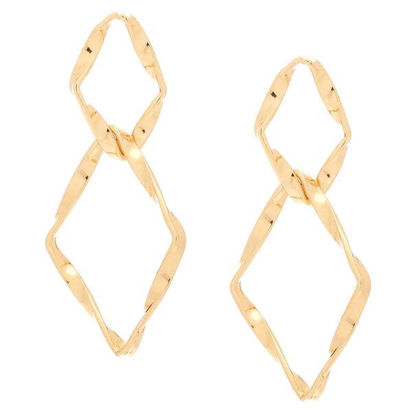 "Claire's - 2.5"" diamond drop earrings - 1"