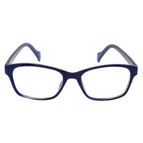 Lunettes rectangulaires - Bleu marine,