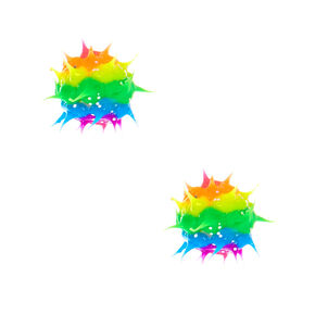Rainbow Glitter Rave Stud Earrings,
