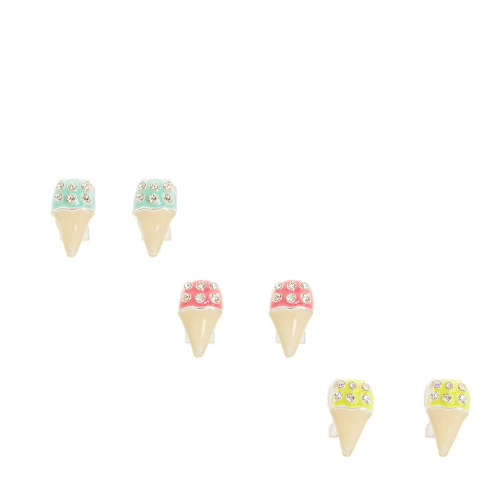 Ice Cream Clip On Earrings,