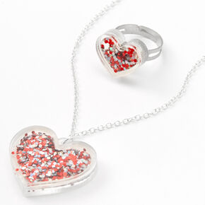 Confetti Shaker Heart Jewelry Set - 2 Pack,