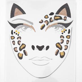 Leopard Cat Face Tattoos - 18 Pack,
