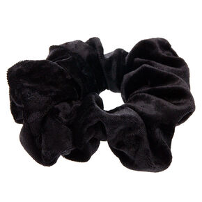 Medium Velvet Hair Scrunchie - Black,