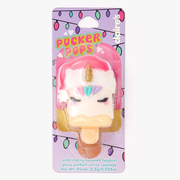 Pucker Pops Santa Lip Gloss -- Wild Cherry,