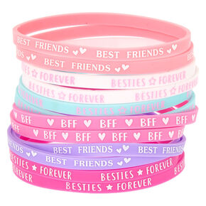 Pastel Rubber Friendship Bracelets - 12 Pack,