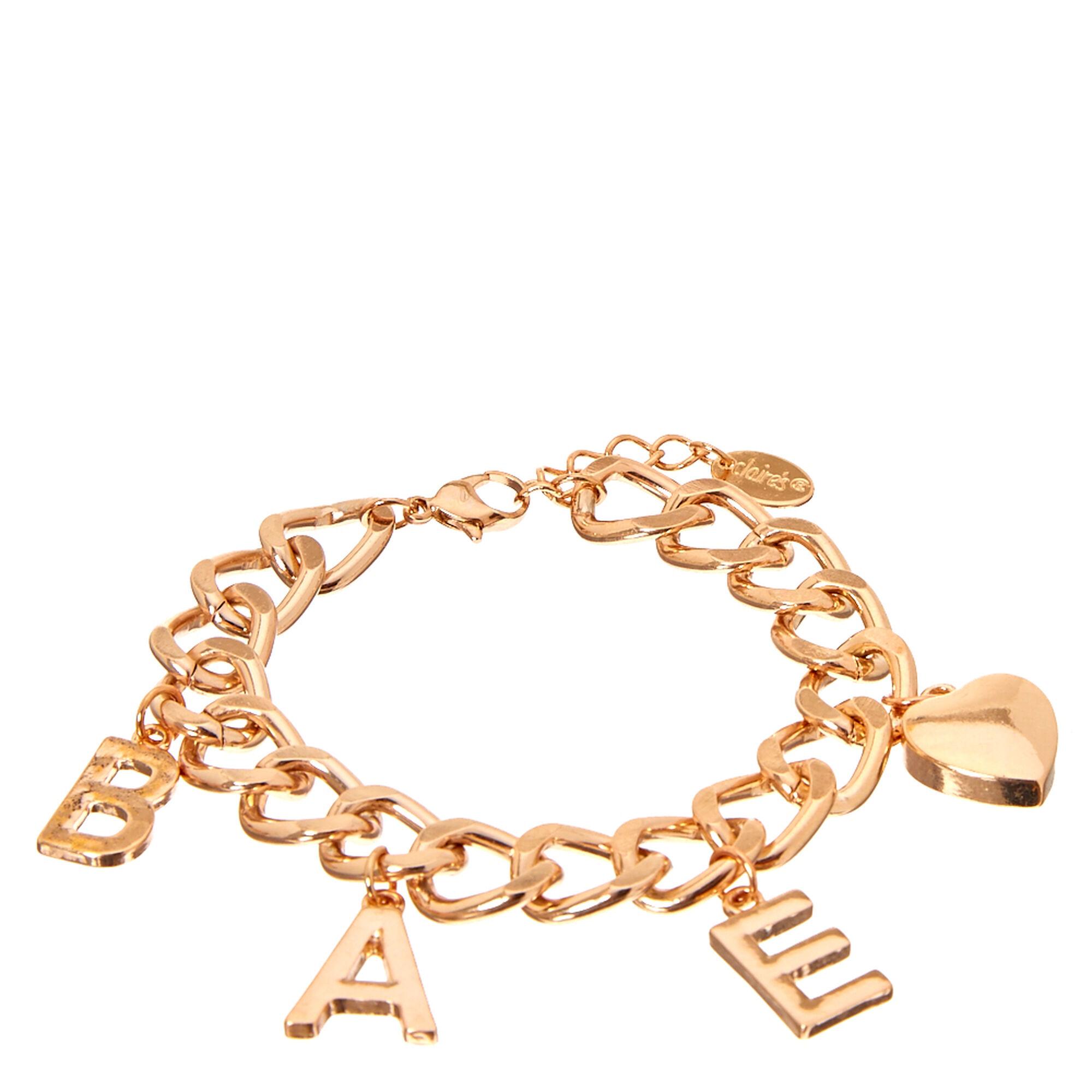 Rose Gold Tone BAE Charm Bracelet