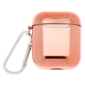 Metallic Rose Gold Earbud Case Cover - Compatible With Apple AirPods,